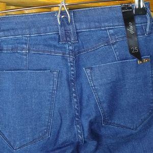 Bebe button detail jeans
